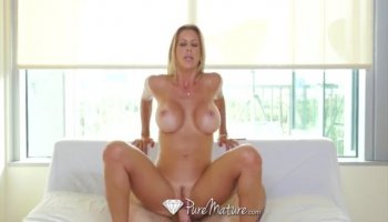 Raunchy Swedish gal swallows and rides a dick in POV