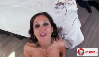 Sexy ebony masseur pleases a white hunk with her hot booty