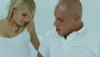 Busty blonde chick gets asshole pounded from behind